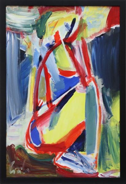 """M. Cieśla: """"Abstraktion, Weibliche Form"""", Expressionistisches Acrylgemälde, Original/Unikat"""