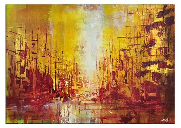 """Acrylmalerei, Kunst von A. Rojo: """"PALIZADA"""""""