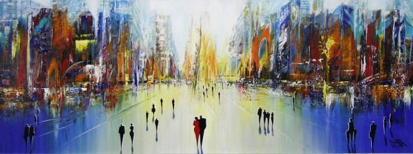 "K. Namazi: ""Sakralbau der Moderne III"", originales Acrylgemälde (Unikat) (A)"
