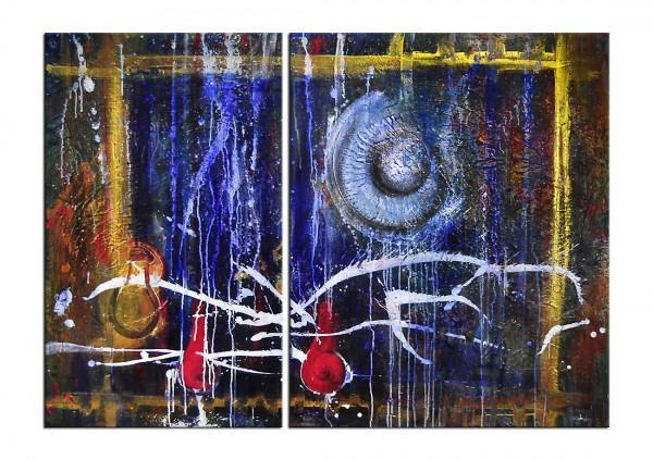 """Mehrteiliges Gemälde, C. David Schwartz: """"ENERGIA Y CAMBIO"""""""