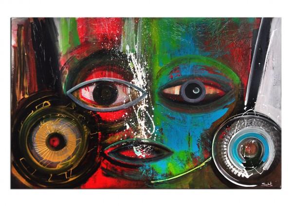 "Acrylgemälde, C. David Schwartz: ""LA MASCARITA"""