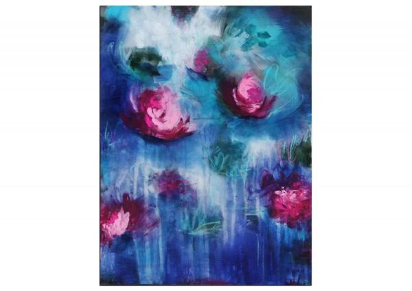 """Abstrakte Acrylmalerei, M.Rick: """"Seerosen"""""""