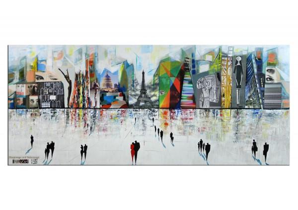 """Modernes Gemälde, K. Namazi: """"Hauptwege und Nebenwege führen zum Ziel"""" (E)"""