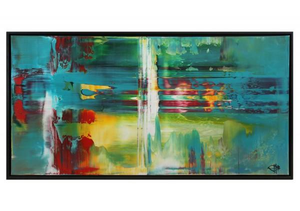 "Acrylgemälde, G. Hung: ""Fluides Licht I"" (ri)"