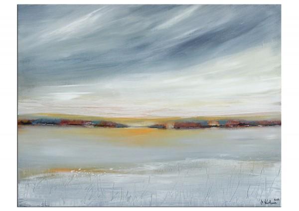 "Acrylgemälde, M.Kühne: ""Winterlandschaft"""