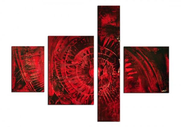 """Acrylgemälde, A. Rojo : """"CARBONO"""""""