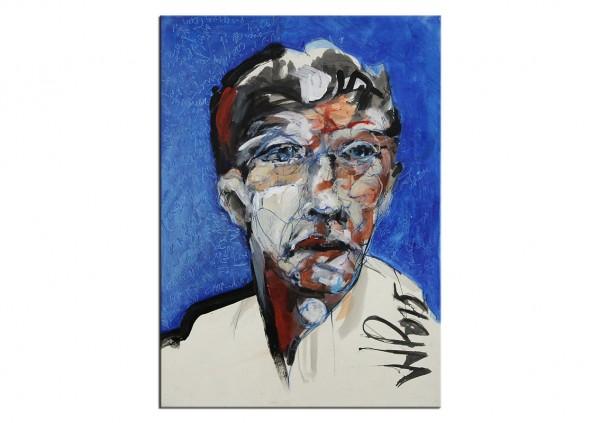 """Neoexpressionismus, Porträt, J.J. Piezanowski: """"TOUTES LES ROUTES QU´ON A PAS PU PRENDRE"""""""
