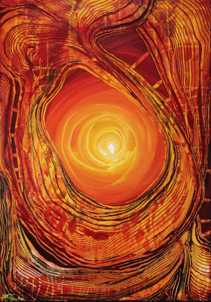 "J. Fernandez: ""Moving Fire VI"", Originalgemälde (Unikat), Acrylbilder"