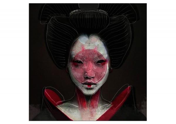 "Edition, Digitale Kunst hinter Acrylglas, Holger Mühlbauer-Gardemin: ""Geisha (rot)"""