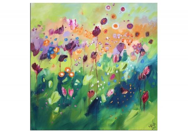 """Gemälde abstrakt, Maya: """"Blumenmeer"""""""
