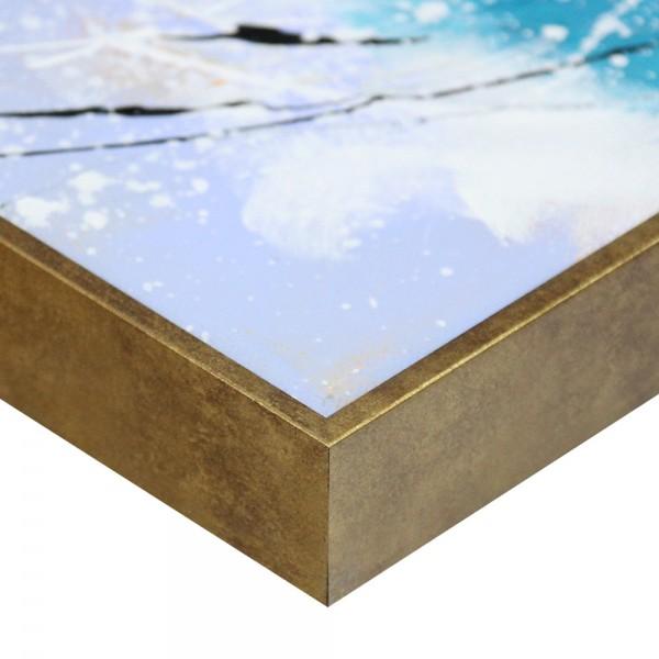 Premium Schattenfugenrahmen Gold-antik, SR-36663-ga, Bilderrahmen Holz, modern