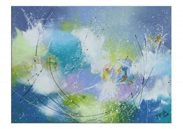 """Gemälde abstrakt, Maya: """"Erfrischender Moment"""""""