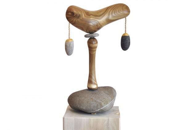 """Skulptur, J. Zipfel : """"SCHWINGUNGSPFAHL NO.3"""""""