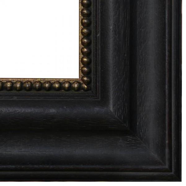 Premium Bilderrahmen Holz schwarz & gold HR-912015-sg, inkl. Blendrahmbleche