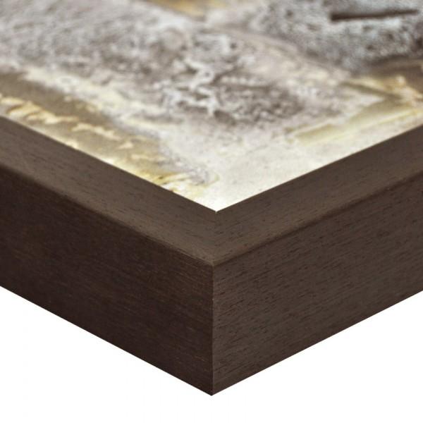 Premium Bilderrahmen Holz wenge HR-M2545A06-w, inkl. Blendrahmbleche