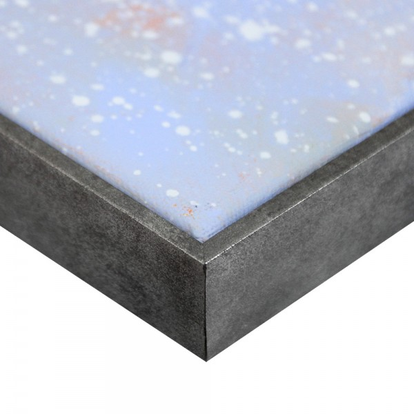 Premium Schattenfugenrahmen Silber-antik, SR-36664-sa, Bilderrahmen Holz, modern