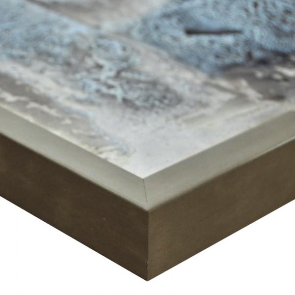 Premium Bilderrahmen Holz blei/silber HR-201012-bs, inkl. Blendrahmbleche