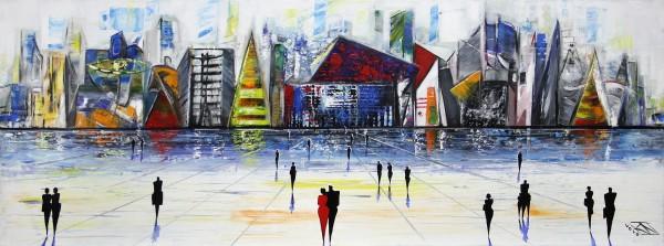 "K. Namazi: ""Art City V"", originales Acrylgemälde (Unikat) (A)"