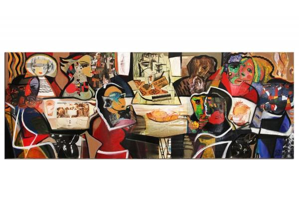 "Modernes Gemälde, K. Namazi: ""Dinner with Friends III"" (A)"