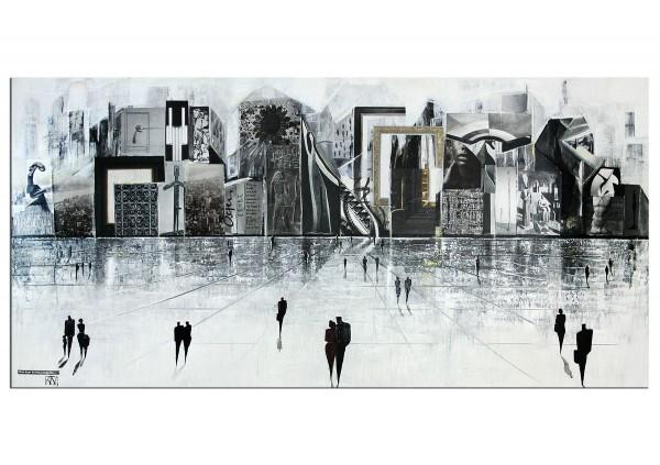 """Modernes Gemälde von K. Namazi: """"Aus dem Vollen schöpfen"""" (A,ri)"""