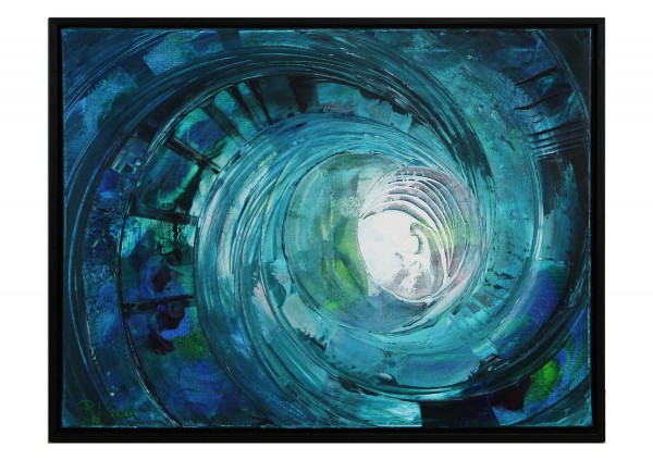 "Gemälde abstrakt, R.König: ""Einkreisung"""