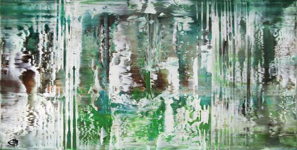 """G. Hung: """"Bambus abstrakt"""", Originalgemälde (Unikat)"""