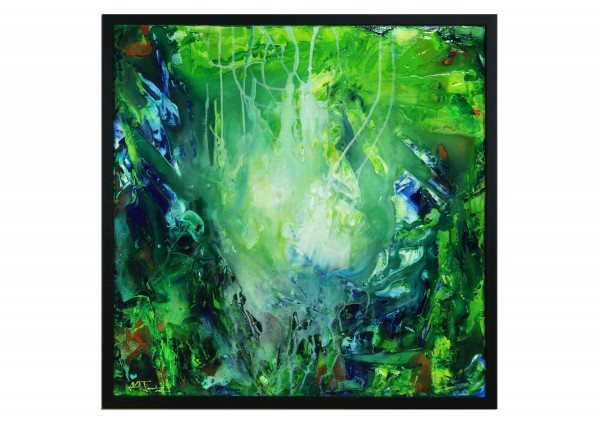 "Acrylbild, Julio Fernandez: ""Belum Rainforest II"" (ri)"