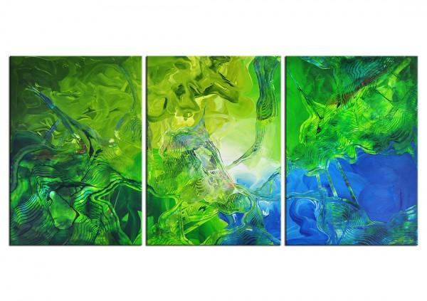 "Acrylbilder Abstrakt, J. Fernandez: ""JUNGLE AT SEASHORE"" (E)"