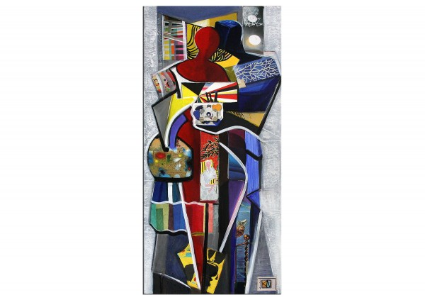 "Moderne Kunst von K. Namazi: ""Colourful Love"", Originalgemälde (Unikat) (A)"
