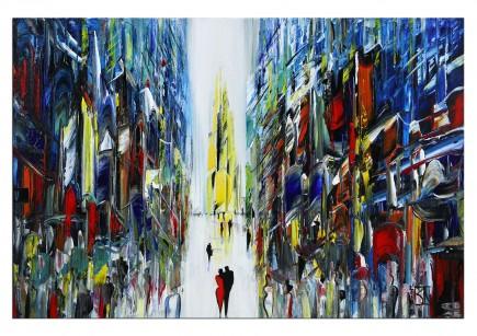 """Abstrakte Kunstbilder, K. Namazi: """"Urbanes Kaleidoskop"""" (E)"""