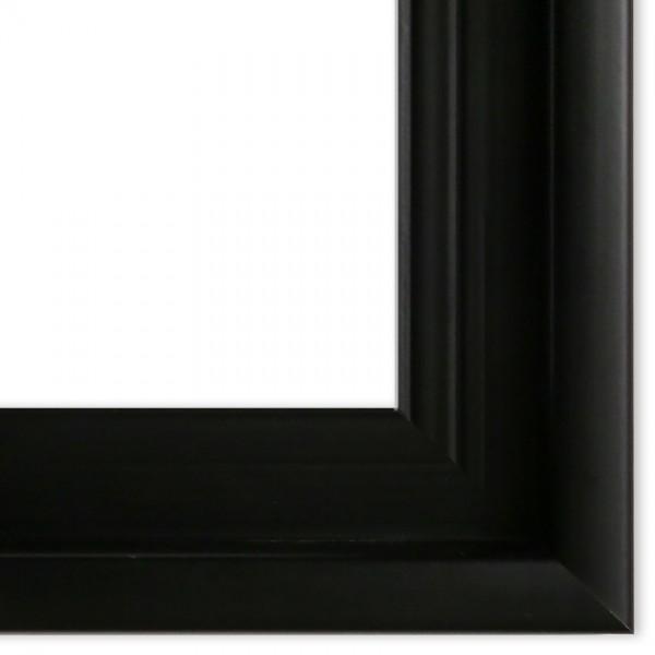 Premium Schattenfugenrahmen schwarz SR-43912-s, Bilderrahmen Holz, modern