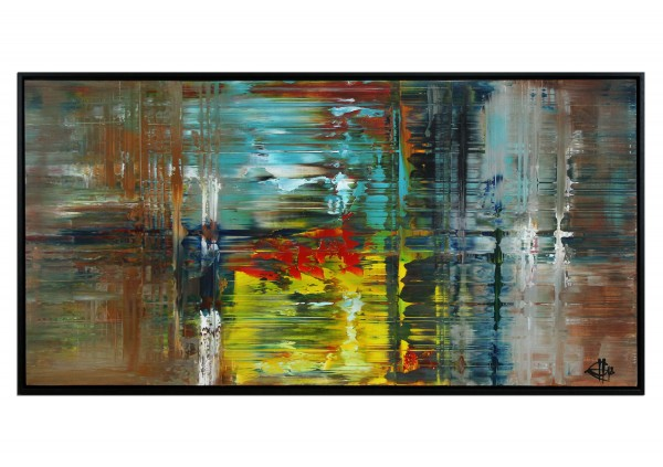 "Acrylgemälde, G. Hung: ""Citylights of Perth: Rainy Day"" (E)"