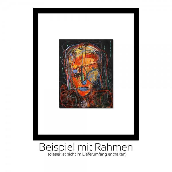"""I. Schmidt: """"Frau im Dunkeln"""", Sonderedition, Monatsgemälde als Kunstdruck"""