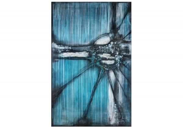 "Acrylmalerei abstrakt, A. Freymuth: ""Unbekanntes Objekt"", Originalgemälde (Unikat)"