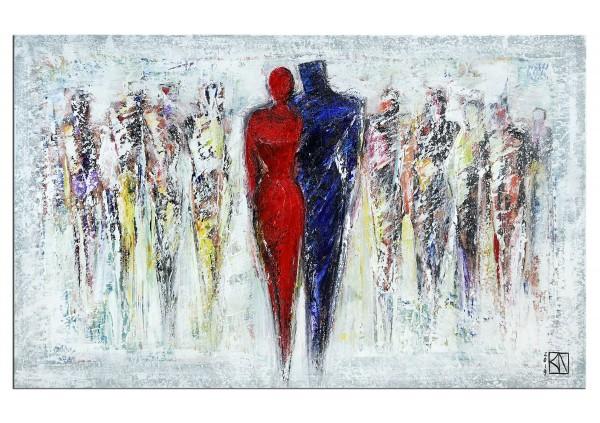 "Modernes Gemälde, K. Namazi: ""Zusammenhalt II"" (A)(ri)"