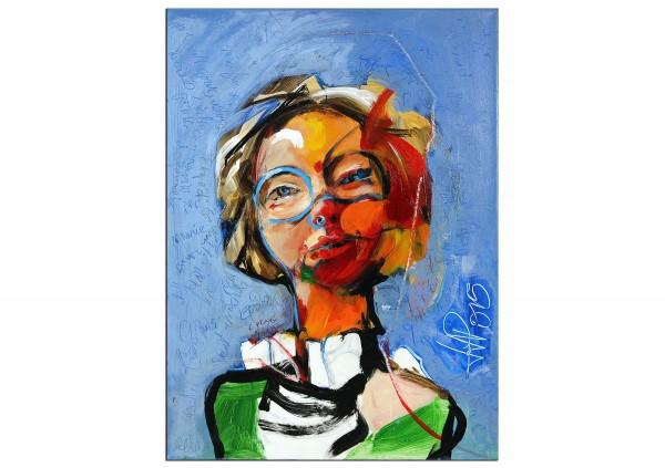 """Neoexpressionismus, Porträt, J.J. Piezanowski: """"Comme une légère empreinte d'innocence"""" (A)"""