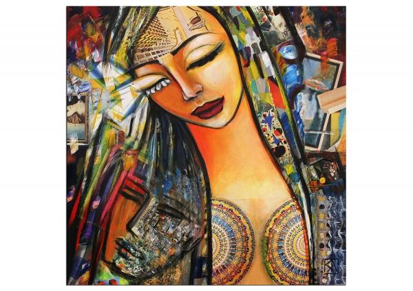 """Modernes Gemälde von K. Namazi: """"Karma der Geborgenheit"""" (ri, A)"""