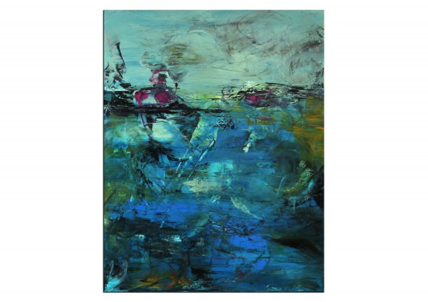 "Abstrakte Acrylmalerei, C. Middendorf: ""Regenwald III"""