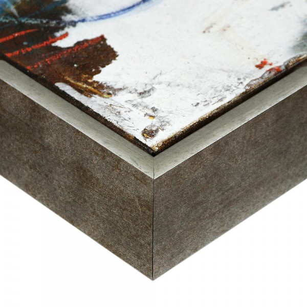 Premium XL Schattenfugenrahmen grau/silber, SR-63925-gs, Bilderrahmen Holz, modern