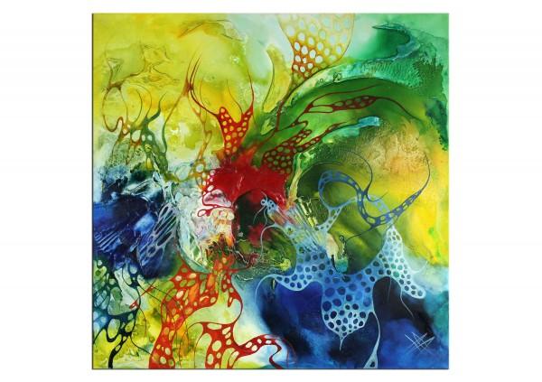 """Acryl- und Ölgemälde, B. Ossowski: """"Blue Wonderland"""""""