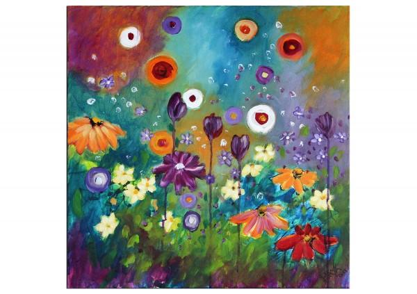 "Acrylbilder, Maya: ""Sommerblumen"""