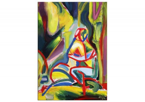 """Expressionistische Ölmalerei, Maciej Cieśla: """"Liebhaber III"""""""
