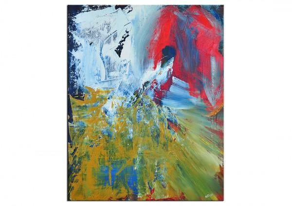 """Acrylgemälde, A. Rojo : """"JARDIN"""" (ri)"""