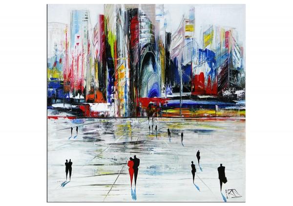 """Modernes Gemälde, K. Namazi: """"Stolze Metropole II"""" (ri,A)"""