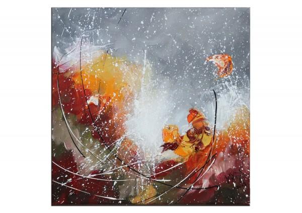 """Acrylbilder, Maya: """"Little Orange"""""""