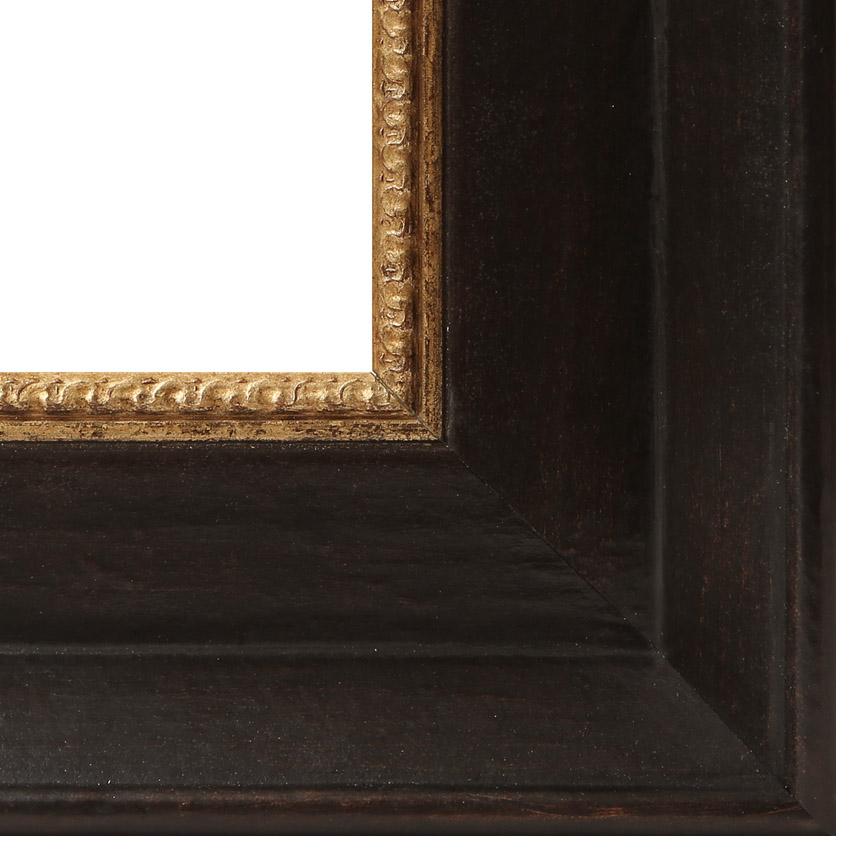Vintage Bilderrahmen für Gemälde in schwarz mit Goldleiste ...