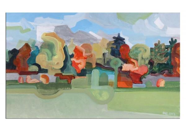 "Acrylgemälde, Frank-Ole Haake: ""Landschaft Herbst I"""