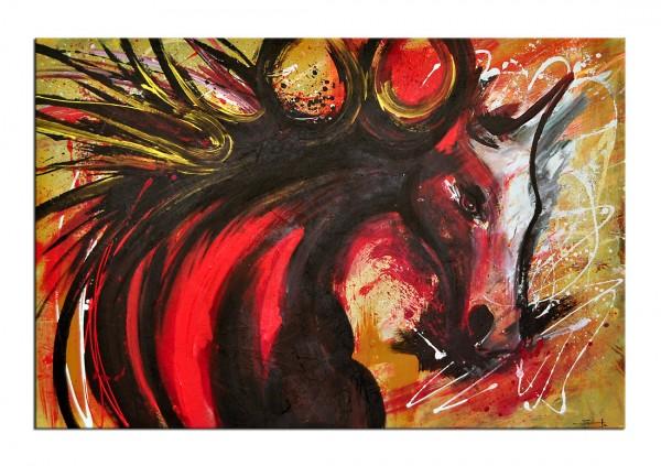 "Acrylgemälde, C. David Schwartz: ""BYE HORSES"", Originalgemälde (Unikat)"