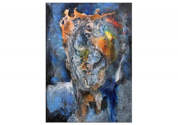 "Expressive Acrylmalerei, I. Schmidt: ""Gesichtslandschaft I"""