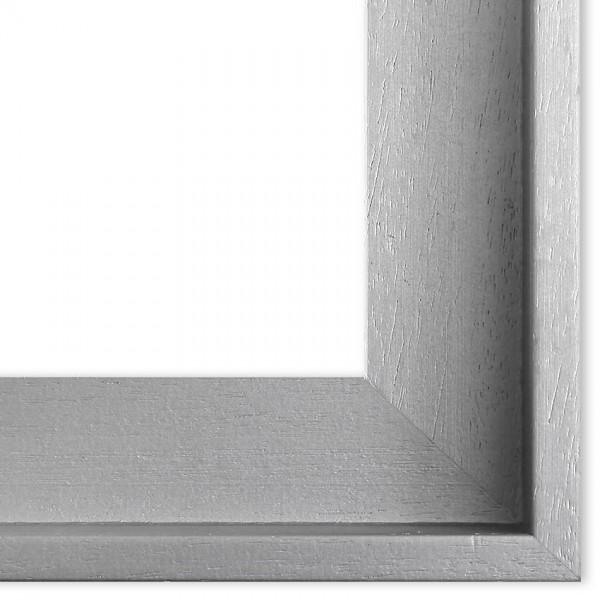 Premium Schattenfugenrahmen silber SR43162-s, Bilderrahmen Holz, modern